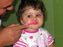 Marta lava i denti