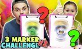 3 Marker Challenge Frozen LOL me contro te luì e sofì