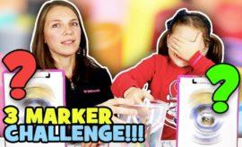 3 marker challenge con mamma
